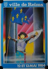 Affiche VILLE de REIMS 1984