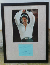 TOM JONES Autograph, Hand-signed Card with Photo in Frame, with COA