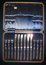 Obstbesteck  Sheffield 1915    Sterling Silber 925er  12 teilig im Kasten