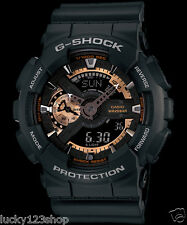 GA-110RG-1A Schwarz Rose Gold Casio Uhren G-Shock 200M Analog Digital X-Large