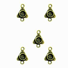 5 Small Triangle Bezels Charms for Jewelry Craft fill w/ Resin, Paper, Ephemera