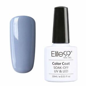 Elite99 Multi Color Blue Nude Gel Nail Polish Base Top Coat UV LED Manicure DIY