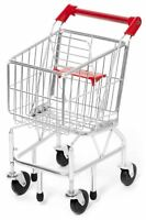 Melissa & Doug METAL SHOPPING TROLLEY/CART Toy/Gift Play Food Toddler/Child BN