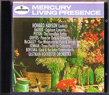 Howard HANSON Barber Piston Griffes Kennan Bergsma MERCURY LIVING PRESENCE CD