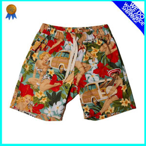 SIZE 28 Diner Trunk Shorts for Men DANGERFIELD Multicoloured Bermuda Style NEW