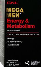 GNC Mega Men Energy Metabolism Multivitamin Gluten-Free Caplets