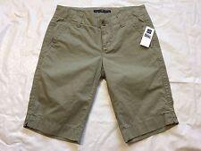 Gap Size 1 Green Cotton Bermuda Walking Casual Shorts NWT Women's