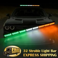 "35"" 32 LED  Emergency Hazard Warning Advisor Strobe Light Bar Amber White Green"