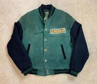 GREEN BAY PACKERS - NFL Men's Carl Banks G3 Leather Varsity Jacket Coat Large