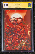 Ron Lim CGC SS 9.8 SS Cates & Stegman Virgin VARIANT 1:100 ABSOLUTE CARNAGE # 5