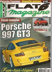 FLAT 6 191 ESSAI PORSCHE 997 GT3 911 TURBO 3.3 GEMBALLA MIRAGE GT 993 C4S X51