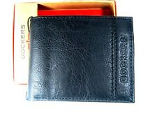 Dockers Mens  Bifold Leather Wallet 31DP220003 Black New NIB