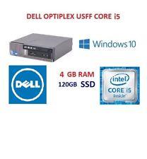 Fast PC WITH 120 GB SSD Bargain Dell 790 USFF Core i5 Computer PC 4GB Windows 10