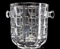 "Vintage Crystal Glass Ice Bucket - Unusual Modern Design ~ 8"" Tall"