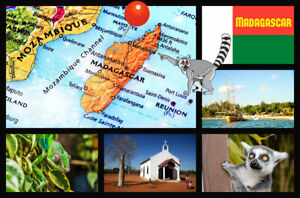 MADAGASCAR - SOUVENIR NOVELTY FRIDGE MAGNET - SIGHTS / FLAG / BRAND NEW / GIFTS
