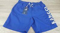 Kangol Swim Mens Shorts Large Logo Blue Swimwear UK SMALL B112-12