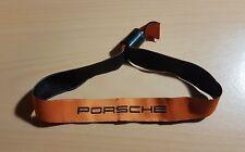 Porsche Band Armband Eintrittsband Orange mit Schrift aus Stoff mit Verschluß