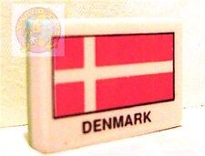 DENMARK flag bandiera  80s eraser rubber radiergummi gomma gommina