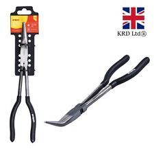"11"" LONG NOSE PLIER Straight 45 Bent Tip Mechanic Grip Tool Pliers NEW B0840 UK"
