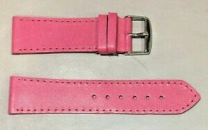 Pulsera Correa de Reloj Piel Legítima Cuero 22 mm Fucsia   Watchband 215