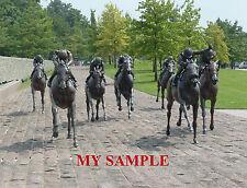 KENTUCKY THOROUGHBRED PARK BRONZE HORSE RACING JOCKEY SILK SADDLE CLOTH PHOTO #1