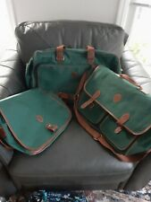 Ralph Lauren Polo 3 piece Travel Duffel Carry On Luggage Green Canvas,New