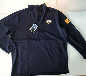 Adidas NHL Nashville Predators Game Mode 1/4 Zip Jacket XL