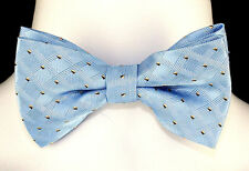Baby Blue Print Mens Bow Tie Adjust Tuxedo Prom Wedding Fashion Dress Bowtie New