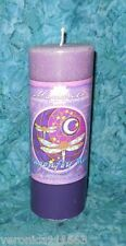 Intuition Dragonfly Moon Pillar Candle NEW Crystal Journey Mandala Burns 70 hrs