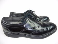 DEXTER MENS SZ 11 M BLACK LEATHER OXFORD WING TIP SHOES CAREER BUSINESS DRESS