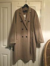 Zara Belted Striped Robe Coat Beige Cream Oversized M Stripe  Sold Out Blog