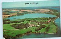 Aerial View Lake Darling Minnesota MN 1960s Vintage Postcard D37