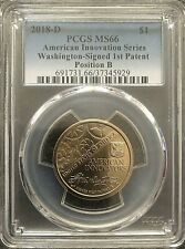 2018-D Innovation Dollar 1st Patent Coin PCGS MS66 Position B