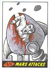 Mars Attacks Heritage Sketch Card: Pablo Diaz