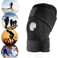 Adjustable Sports Knee Patella Support Brace Sleeve Wrap Cap Stabilizer Black