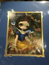 Jasmine Becket-Griffith Snow White In The Forest Matted 18 x 14 Print Disney New