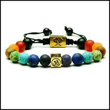Handmade Tibetan 7 Stone Chakra Healing 'Om' Prayer Bracelet