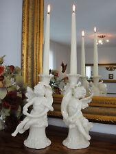 Kerzenleuchter Set Porzellan Engel Kerzenhalter Antik Barock Kerzenständer Edel