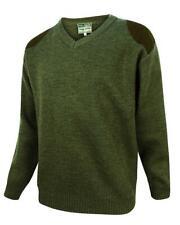 Hoggs of Fife Melrose V-Neck Hunting Pullover - Loden  Coats & Jackets (57988)