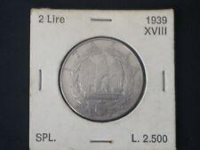 REGNO MONETA 2 LIRE 1939 SPL