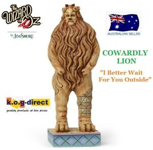 JIM SHORE THE WIZARD OF OZ COWARDLY LION I BETTER WAIT FOR YOU OUTSIDE NEW