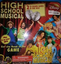 Disney High School Musical 1 & 2- 2 CD Board Game Set Rare Complete Hard to Find