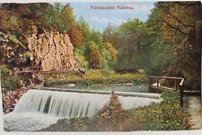 29806 AK Rabenau Mühlen-Wehr mit Wald Felsen und Fluß um 1915