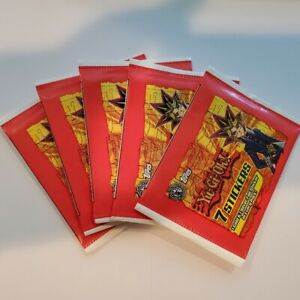 Yugioh Stickers 5 Pack Lot English, sealed, new by Topps.