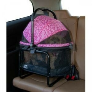 Pet Gear VIEW 360 Dog Cat Carrier Car Booster Seat Travel System Pink Floral