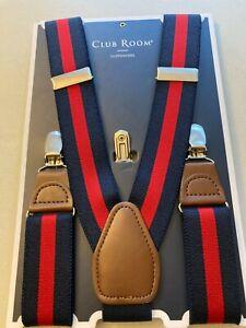 Club Room Men's Collegiate Stripe Suspenders One Size