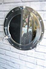 Porthole Wall Mirror Ships Nautical style Silver Chrome Round Mirror