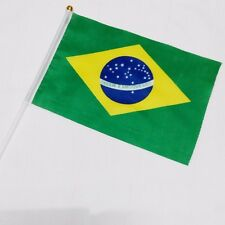 Brazil HELD STICK Small FLAGS Hand Table Flag Festivals country 5pcs