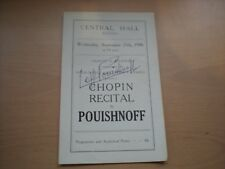 More details for  original signature of leff pouishnoff on a 1946 programme central hall bristol
