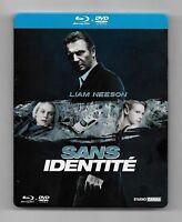 COFFRET STEELBOOK BLU-RAY + DVD / SANS IDENTITE - LIAM NEESON / EDITION LIMITEE